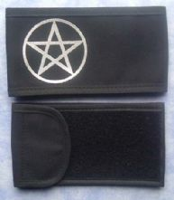 Pentacle Black/Silver Printed Wrap Armband